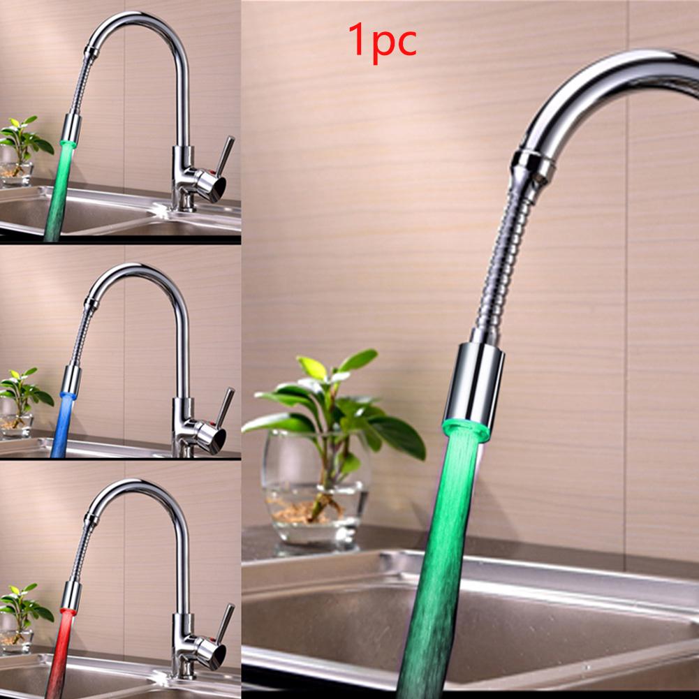 Кухня Ванная комната водосберегающий кран abs свет цвета Изменение сопла умный aeProduct.getSubject()
