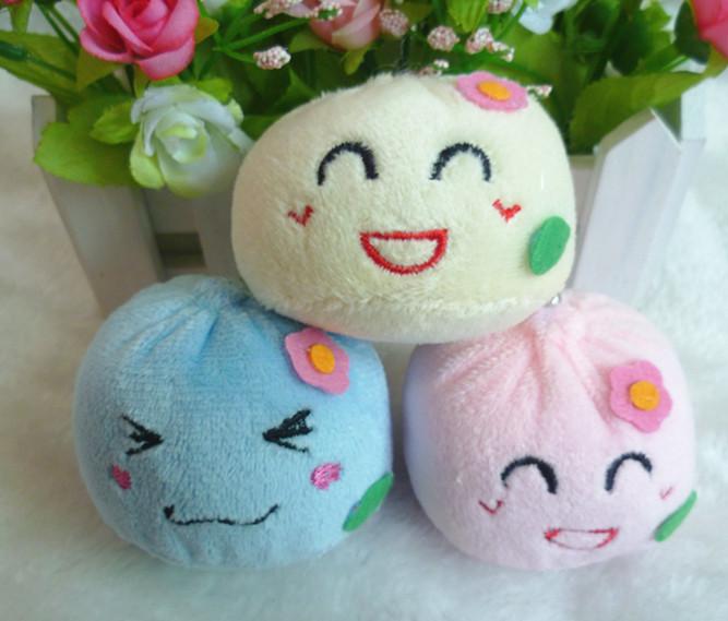Expression buns plush toy pendant doll mobile phone small plush pendant wedding gifts(China (Mainland))