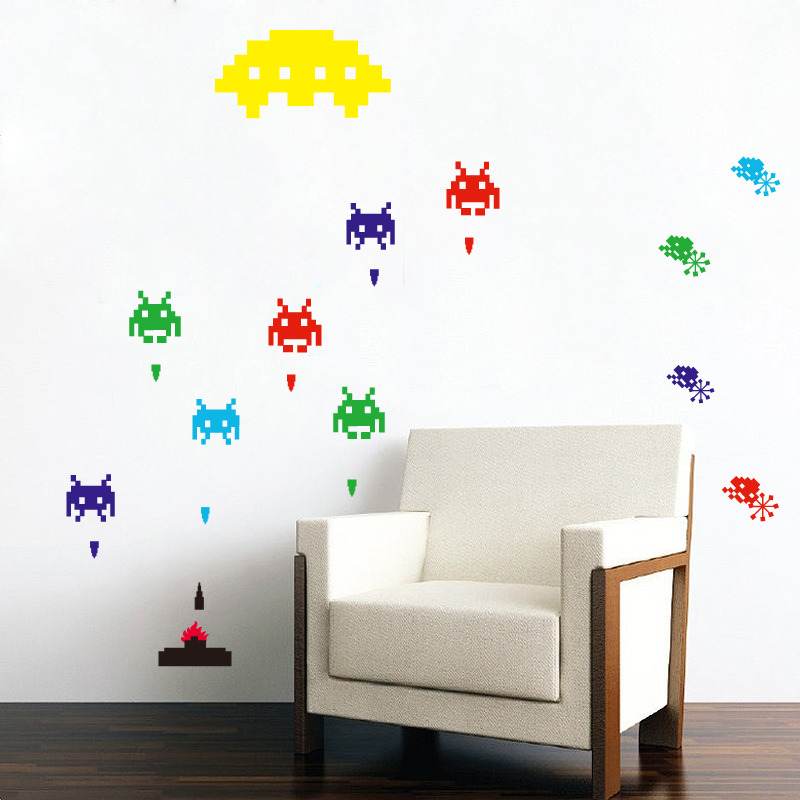 gallery for gt space invaders wall decals space invaders wall stickers decal six things