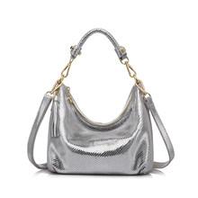 MAIS REAL marca mulheres saco serpentina bolsa de ombro pequena bolsa de couro genuíno Do Sexo Feminino casual tote bag lady crossbody sacos(China)