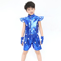 Best Selling Children Dancer Costume Faux Leather Jazz Hip Hop Clothing Personality Fashion Boys Girls Dancewear