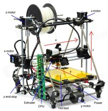 Ex Prusa Mendel 3DP01 RepRap 3D export foreign trade quality DIY printer