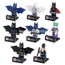 Wholesale D840 Super Heroes Batman Minifigures 80pcs/lot 4.5cm High Building Blocks Sets Model Bricks Figure Toys For Children