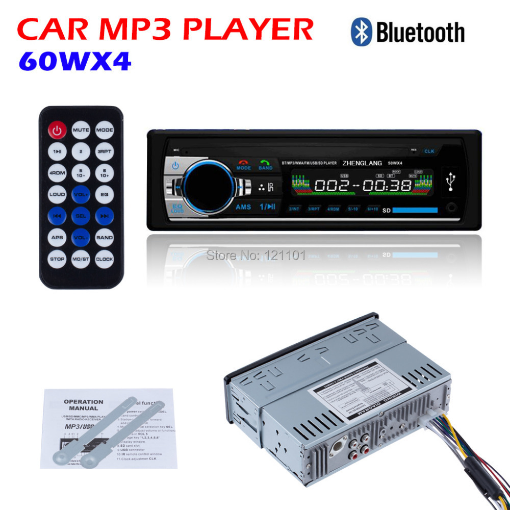 2015 Car Radio Stereo Player Bluetooth AUX-IN MP3 FM/USB/1 Din/remote control For Iphone 12V Car Audio Auto Support Smartphone(China (Mainland))