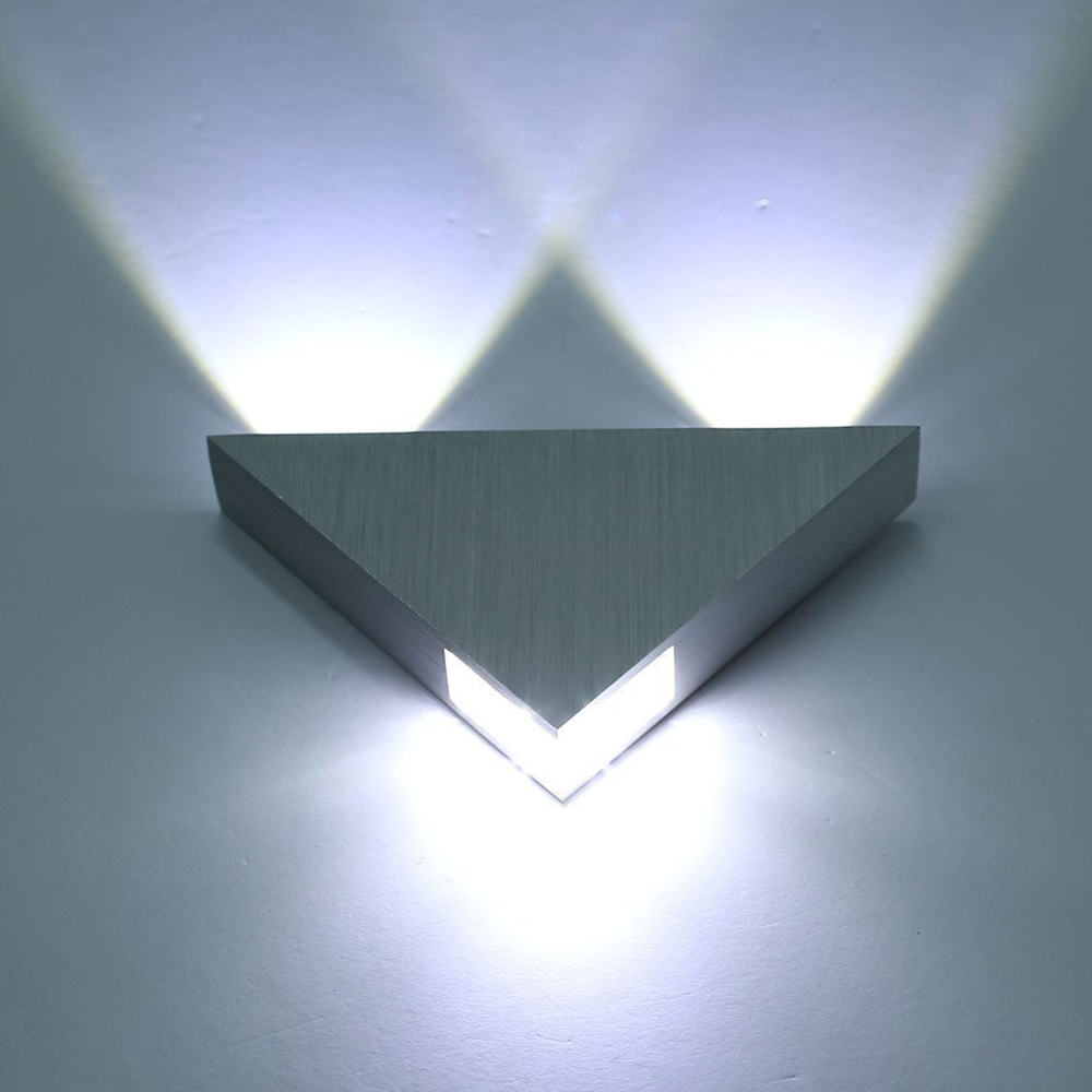 Tanbaby Aluminum Modern Wall Sconce Triangle Designed 3w LED wall light decoration Home lighting ...