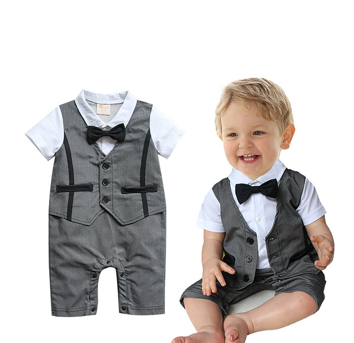 Free Shipping 4sets/lot Baby Boys Formal Romper<br><br>Aliexpress