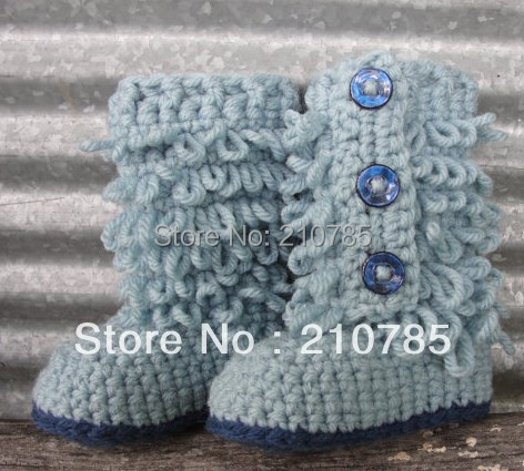 Best selling! Baby crochet Boots handmade crochet shoes 100% cotton baby toddler shoes custom 30pairs free shipping(China (Mainland))