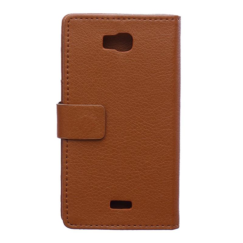 Здесь можно купить  30 pcs/lot Card Slot Holder Wallet Lychee Emboss flip stent Leather Case For Huawei Honor Bee Y541 Y5C  Телефоны и Телекоммуникации