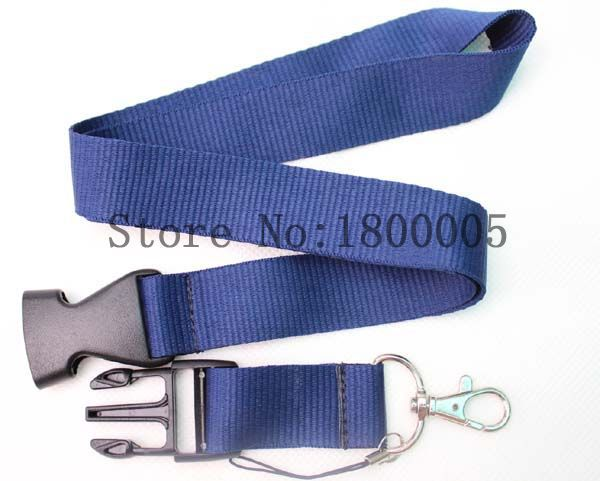 Simple and Practical Blue Lanyard for ID Key chain Cell Phone,Man Women Boys Girls Neck Strap Lanyards(China (Mainland))