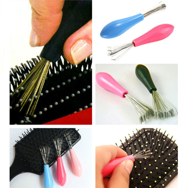 Гаджет  Durable Mini Useful 1PC Hot Sales Comb Hair Brush Cleaner Embeded Tool Home Essential Color Randomly None Дом и Сад