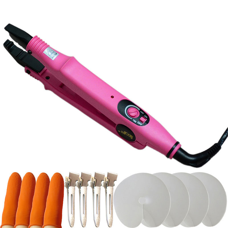 Pre-Bonded Hair Extension Connecter Iron Fusion Heat Iron Hot Wand Gun Adjustable Hair Connector(China (Mainland))
