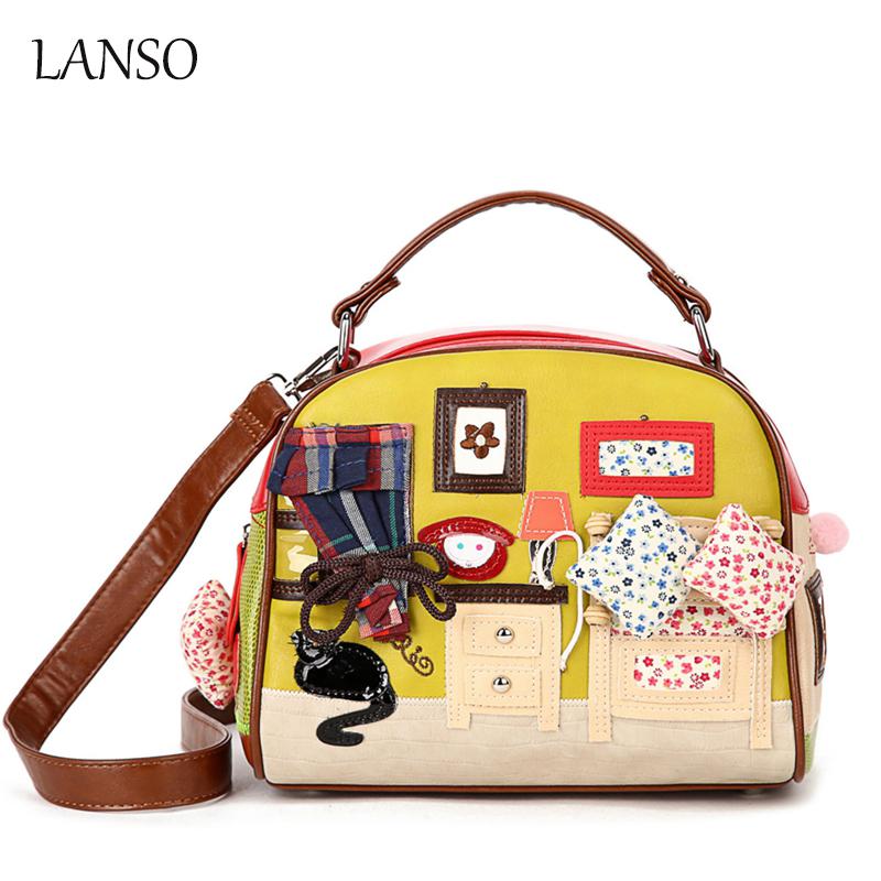 Personality Leisure Bags Retro Hand - Carried Messenger Shell Bag Zipper Cartoon Handbags Women Shopping Party Essential Bag(China (Mainland))