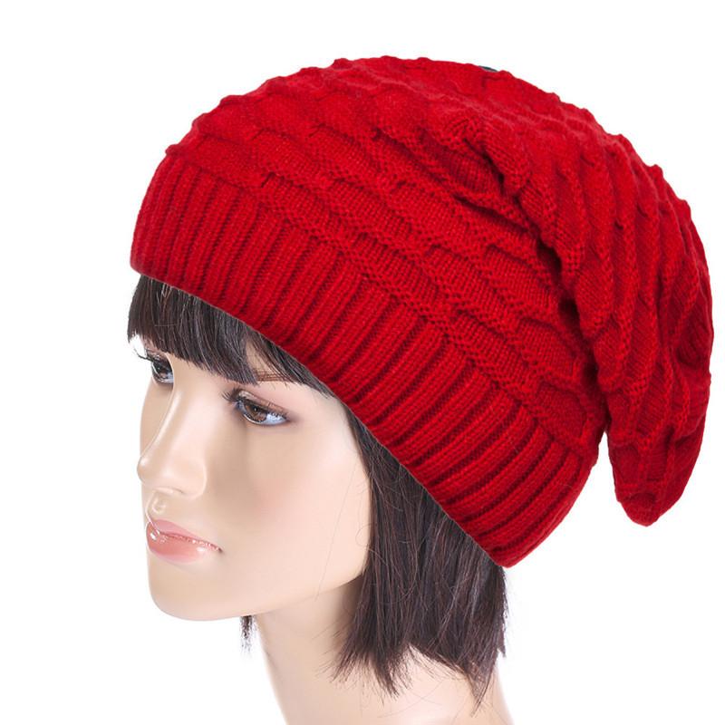 Women Winter Fluff Crochet Hat Wool Knit Beanie Warm Caps