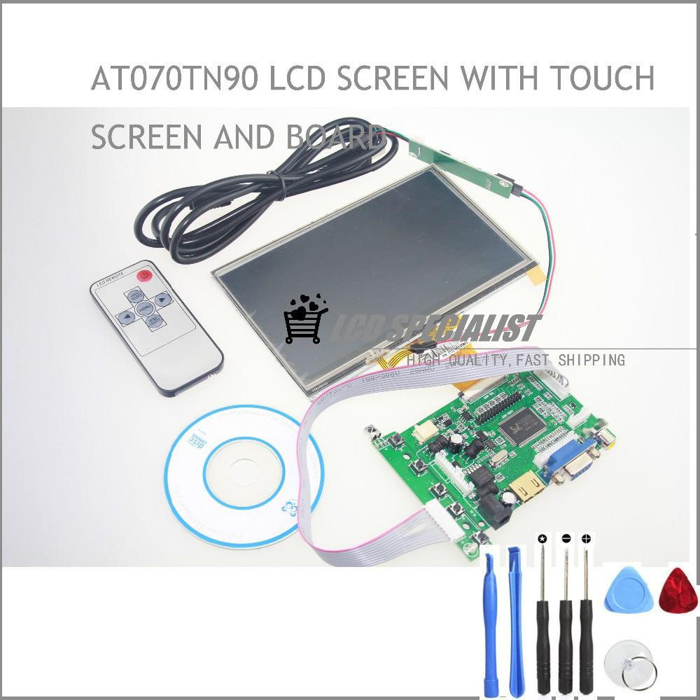 Lcd écran tactile TFT AT070TN90 avec entrée VGA tactile Kit HDMI carte de conducteur(China (Mainland))