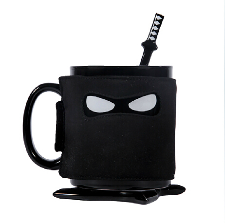 Ninja Creative Cup Ceramic Mug Coffee Cups Caneca Cup Taza Anime Copo With Spoon With Cup