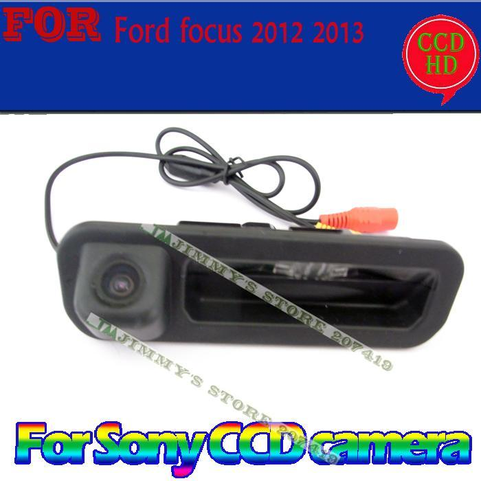 wired wireless for sony ccd car parking rearview camera for Ford focus 2012 2013 hatchback sedan for focus2 focus3 trunk switch(China (Mainland))