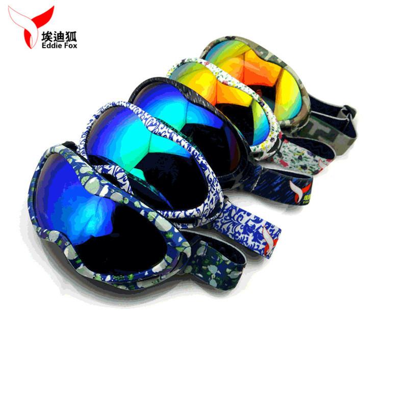 New EDDIE FOX HG-31 Anti-fog Windproof UV400 Kids Ski Goggles Unisex Anti Glare Eyewear For Outdoor With 9 Colors(China (Mainland))
