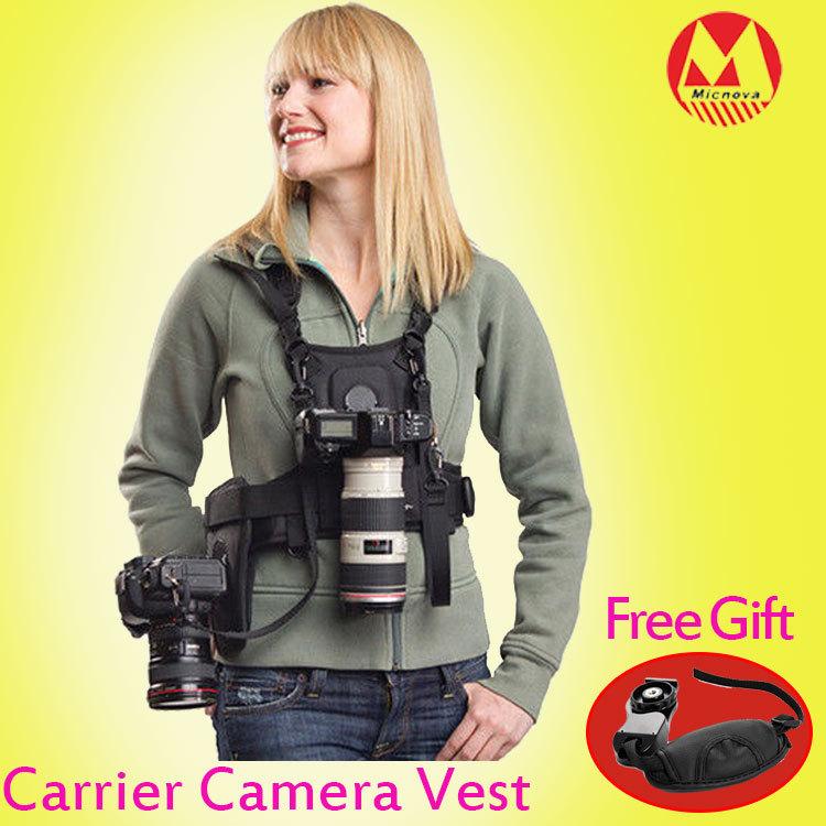 Гаджет  MICNOVA Multi Camera Carrying Photographer Vest with Side Holster for Canon Nikon Sony DSLR Camera None Бытовая электроника