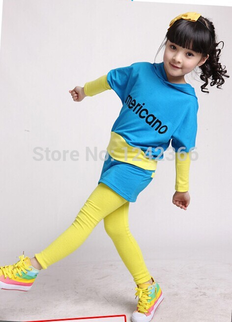 Baby Girl Clothes sweaters+pants sport suit tops bottoms autumn fashion Kids clothing stores cotton on kids pinup girl clothing(China (Mainland))