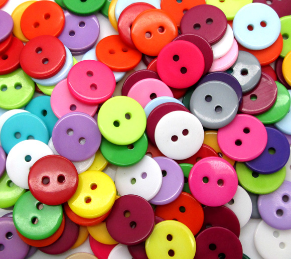 Hot sale Wholesale Mixed Color Round Shape 2 Hole Resin Button Fit Sewing Scrapbooking Apparel Sewing