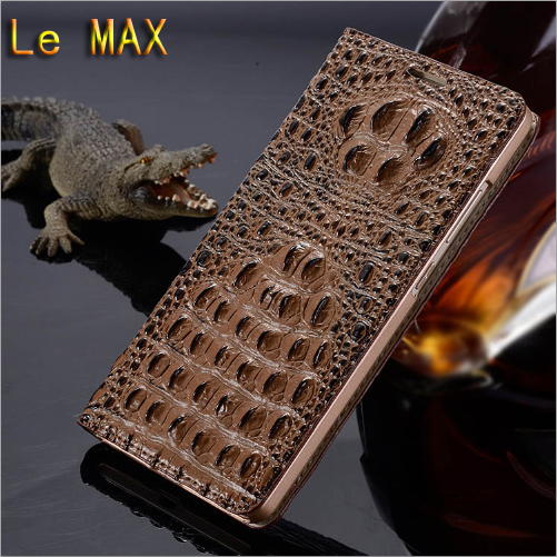 New Top Genuine Leather Flip model Case Cover For Letv Le MAX X900 MX1 High quality Luxury crocodile grain Phone Cover