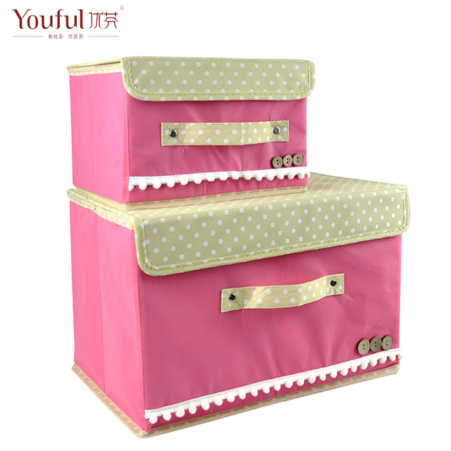 Free ship!Large covered collation box creative underwear storage box / 2 box for 1 set