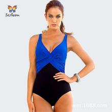 M 4XL Plus Size Swimwear Women One Piece Swimsuit 2015 New High Cut Swim Wear Bodysuit