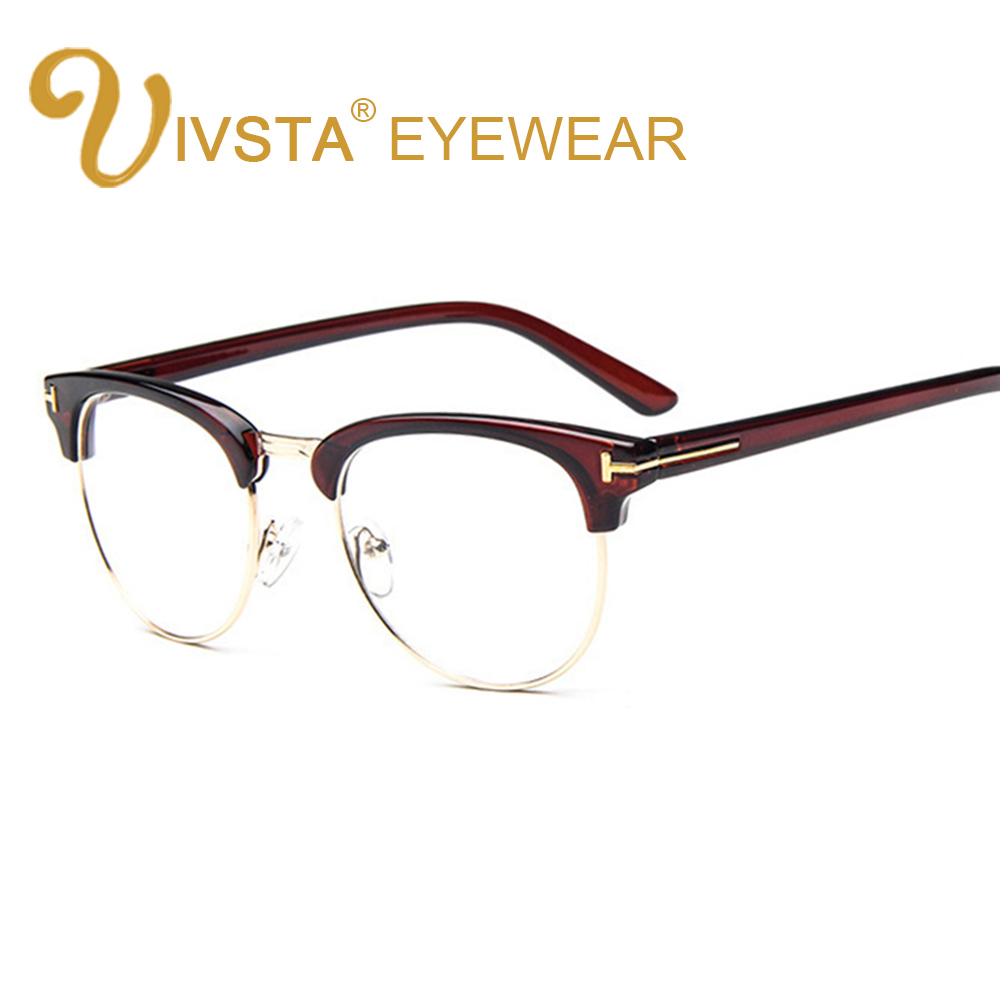 ivsta tf 8015 optical frame half rim glasses eyeglasses frames for men myopia fashion brand tf