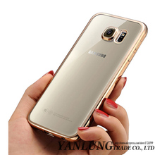 Clear Coque Fundas Plating TPU Case for Samsung Galaxy S6 S7 Edge Plus Note 5 Note 7 S5 J7 J5 A3 A5 A7 2016 Soft TPU Caso Cover(China (Mainland))