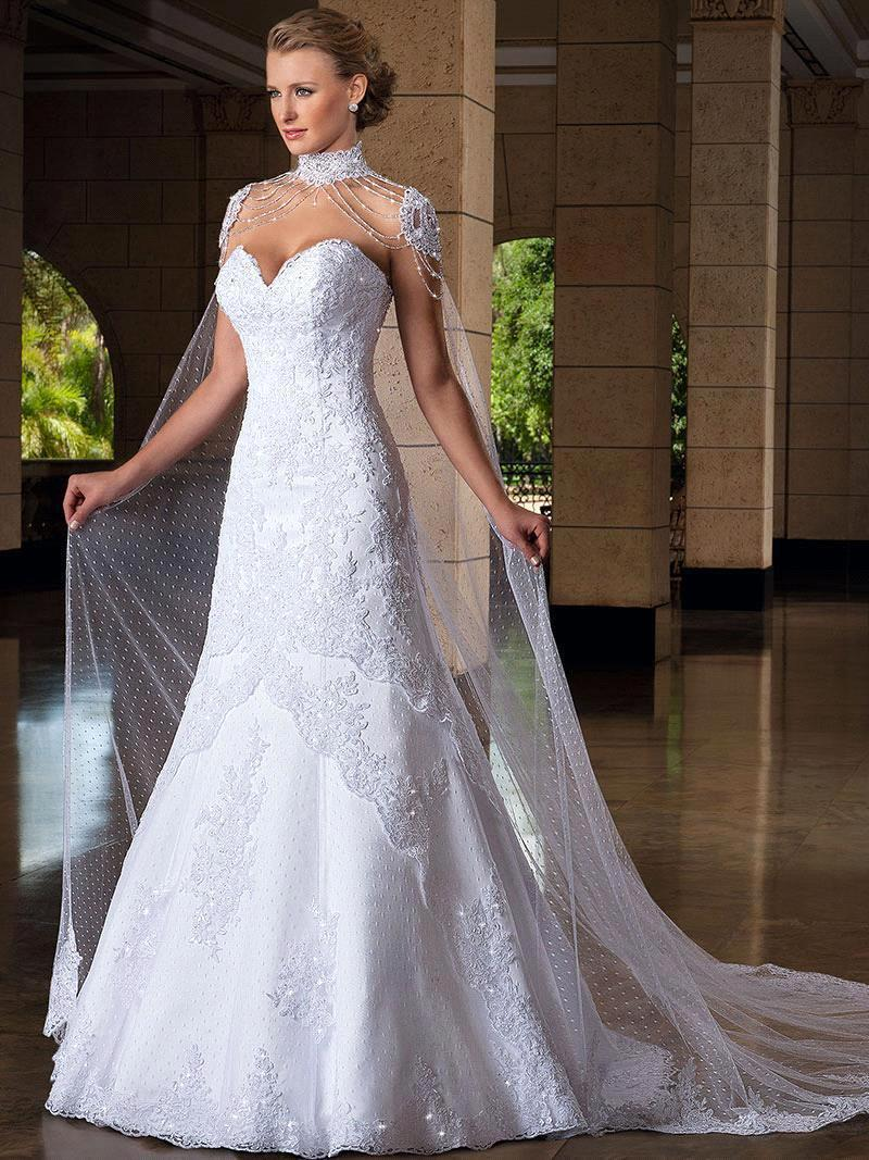 Vestido de novia 2015 new appliques lace wedding dresses for Sweetheart lace trumpet wedding dress