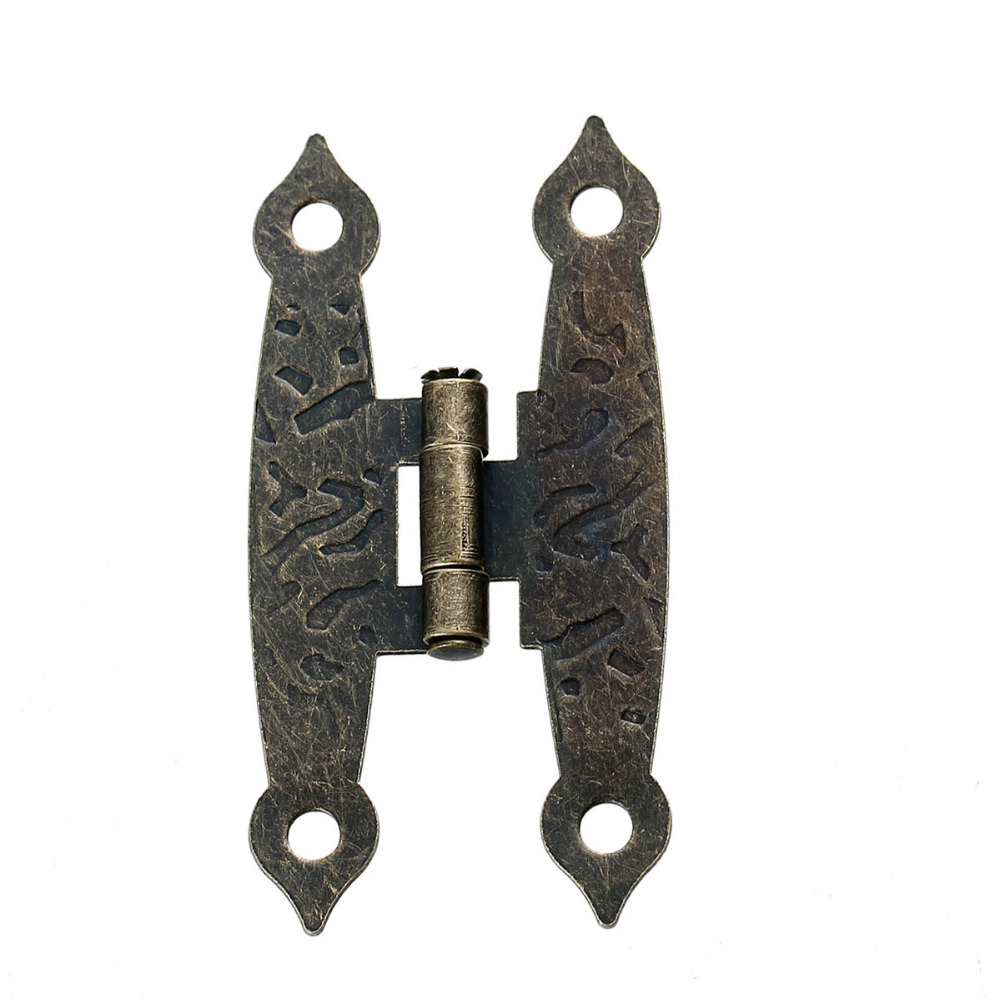 """Iron Based Alloy Door Cabinet Drawer Wooden Box Butt Hinges Rectangle Antique Bronze Rotatable 65mm(2 4/8"""") x 20mm( 6/8""""), 5 Pcs(China (Mainland))"""