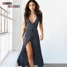 Buy 2017 Spaghetti Strap Summer Dress Women Casual Beach Boho Floral Print Deep V Neck Backless Sexy Dresses Woman Split Black Dress for $9.91 in AliExpress store