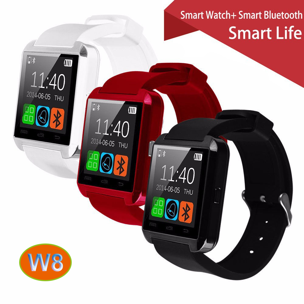 100% Original Gooweel W8 Bluetooth Smart Watch Sport for iPhone 4/4S/5/5S/6/6+ Samsung S4/Note/s6 HTC Android Phone Smartwatch(China (Mainland))