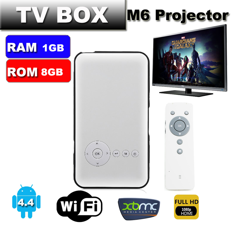 2015 mickal android 4 4 smart mini projector tv box for Smart pocket projector