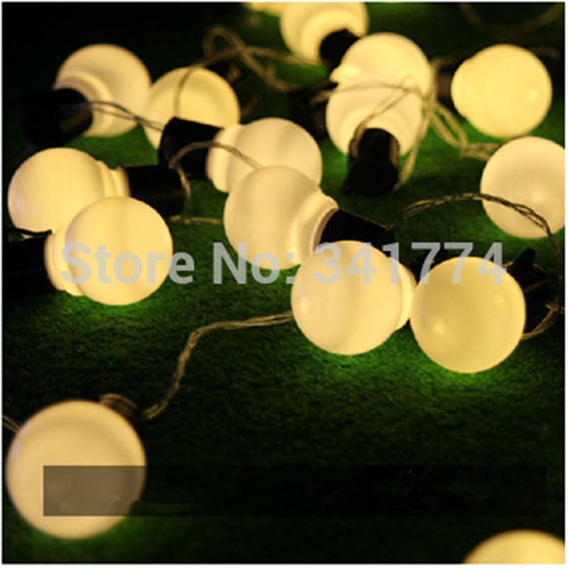 Big Size Luminaria 10m RGB LED Ball string lamps Christmas Lights fairy wedding garden new year pendant Outdoor lighting garland(China (Mainland))