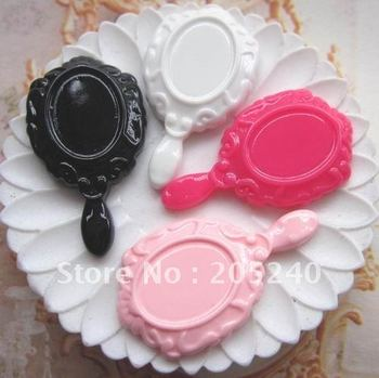 free shipping! very hot  resin mirror (the same as the picture)20pcs mixed 4colors  for DIY phone decoration