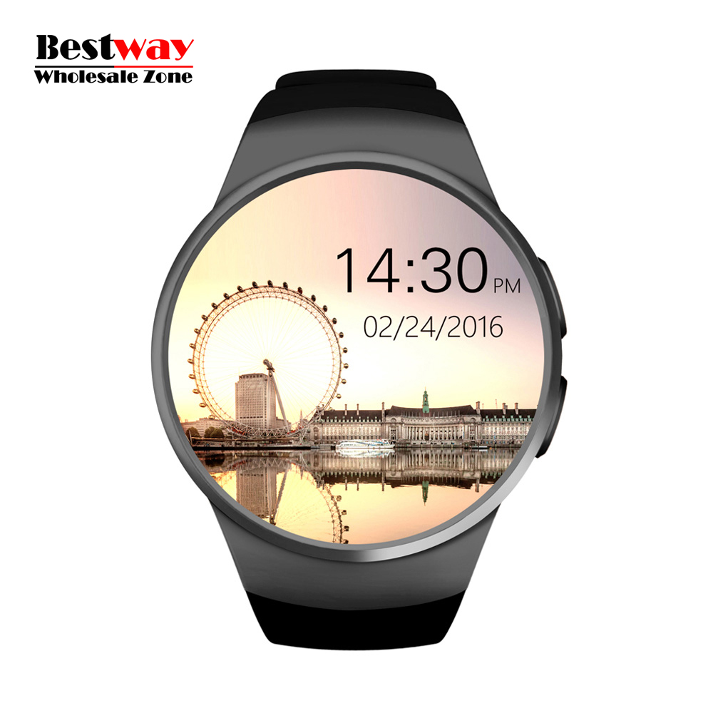 Фотография DHL Free Shipping 10pcs/lot KW18 Smartwatch Smart Watch Android Watches Blood Pressure Heart Rate Monitor SIM/Micro SD Card