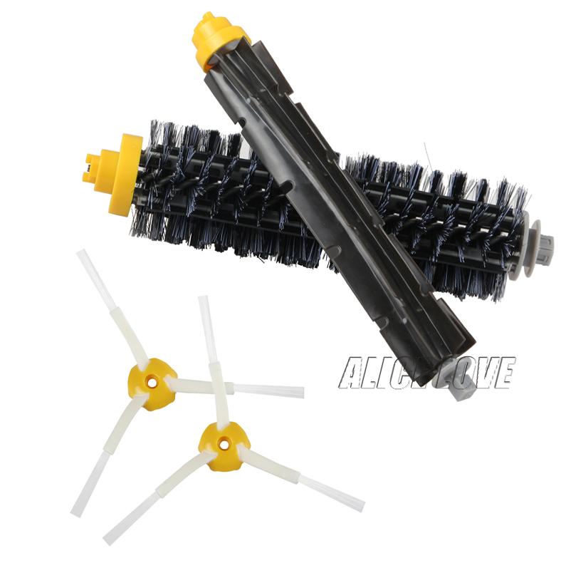 1 Bristle brush +1 Flexible Beater Brush +2 Side Brush for iRobot Roomba 600 700 Series Vacuum Cleaning Robots 760 770 780 790(China (Mainland))