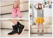 Botas femininas envío gratis! 2014 nuevos cargadores de la nieve moda primavera e invierno impermeables antideslizantes zapatos calientes del tamaño 35-39! caliente venta(China (Mainland))