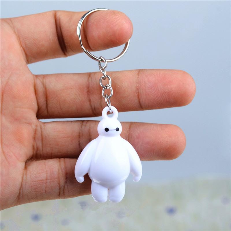 100pcs/lot Anime & Cartoon Big hero 6 Baymax model Pendant keychain 3D doll key chain toy Mobile phone car Keyring Key Holder(China (Mainland))