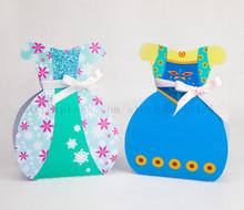Elsa Anna caixa do Favor caixa de presente caixa de doces caixa de presente vestido de festa decorações crianças evento & festas
