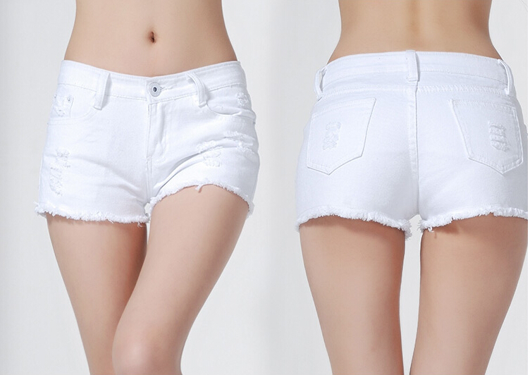 White Denim Short Shorts