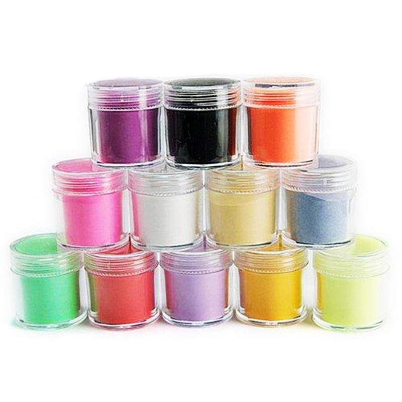 24 Colors Acrylic Powder Dust Nail Art Decoration Nail glitter mirror powder nails glitter powder wholesale(China (Mainland))