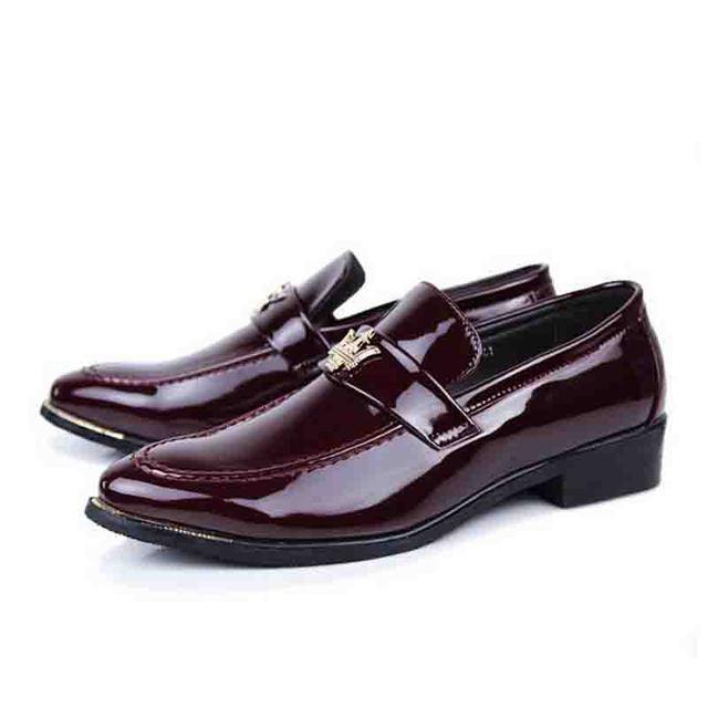 Мужчины туфли супер мода яркие лаковые мужчин оксфорд низкие Верх парни свадьба обуви ...
