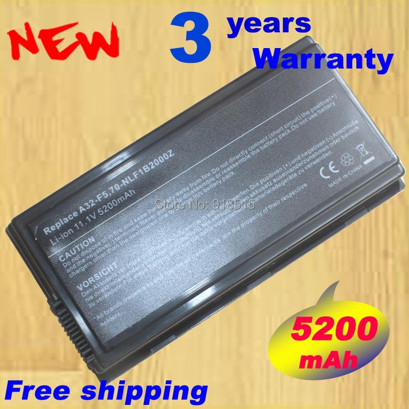 Replacement battery A32-F5 Asus F5 F5RL F5RI F5SL F5V X50 Series11.1V 5200mAh  -  Shenzhen Laptop batteries Outlet store