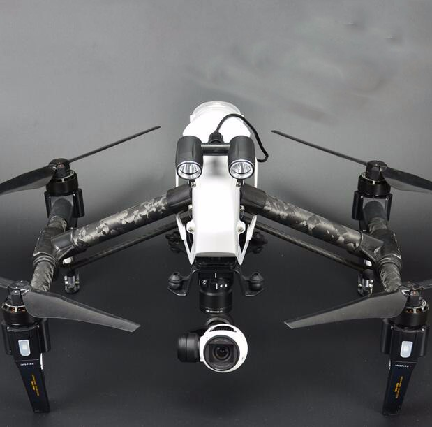 DJI INSPIRE 1 UAV accessories LED headlights lights night aerial shot artifact