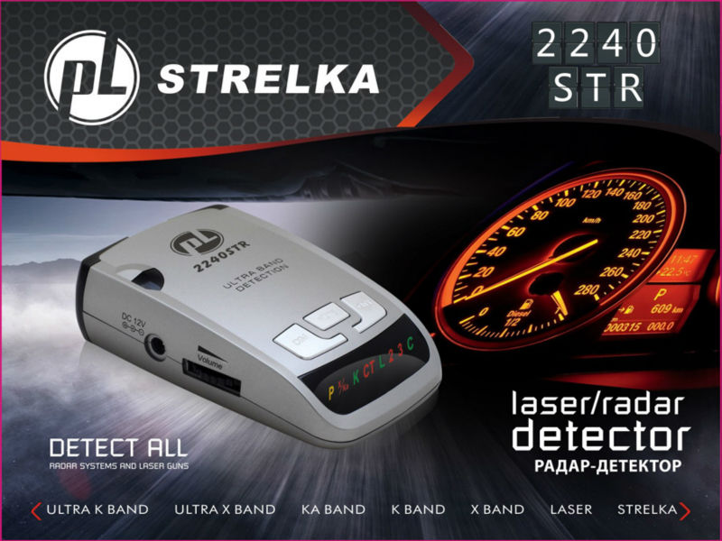 Russia Icon Display Car Detector 2240STR X K NK Ka Laser Strelka Anti Radar Best Quality 360 degree Radar detector Free Shipping