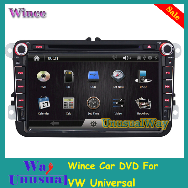 2015 Top Newest 8inch 1080P Wince 6.0 auto radio dvd for VW Passat B6 with GPS BT RDS Steering Wheel Control Free Shipping(China (Mainland))