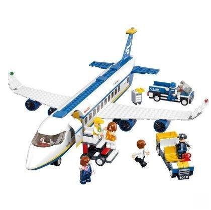 Air bus Plane aviation Building Blocks Transport enlighten aircraft vehicle Toy Bricks set for kids Compatible With Lego0366(China (Mainland))