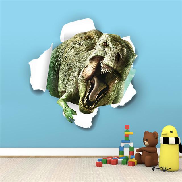 Динозавра парк юрского периода мультфильм детская комната на стены фильм фрески искусства стены стикеры X008 Nursey декор ребенка стены искусства